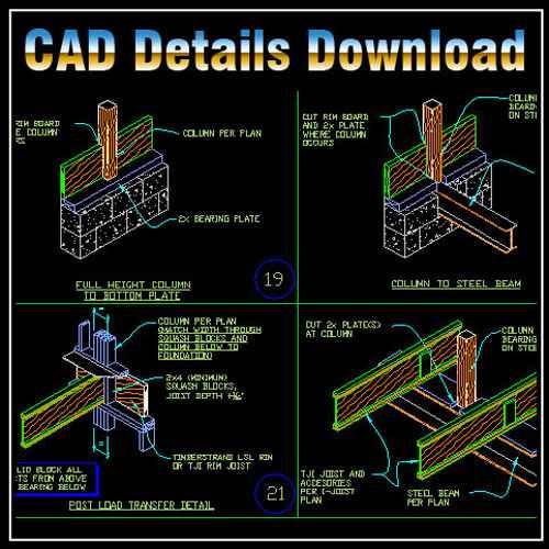 Framing Design Details,Frame Design Ideas,Building Details,CAD drawings downloadable in dwg files