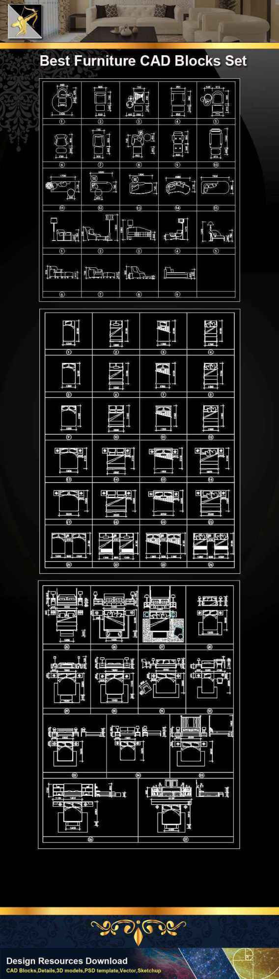 Furniture CAD Set