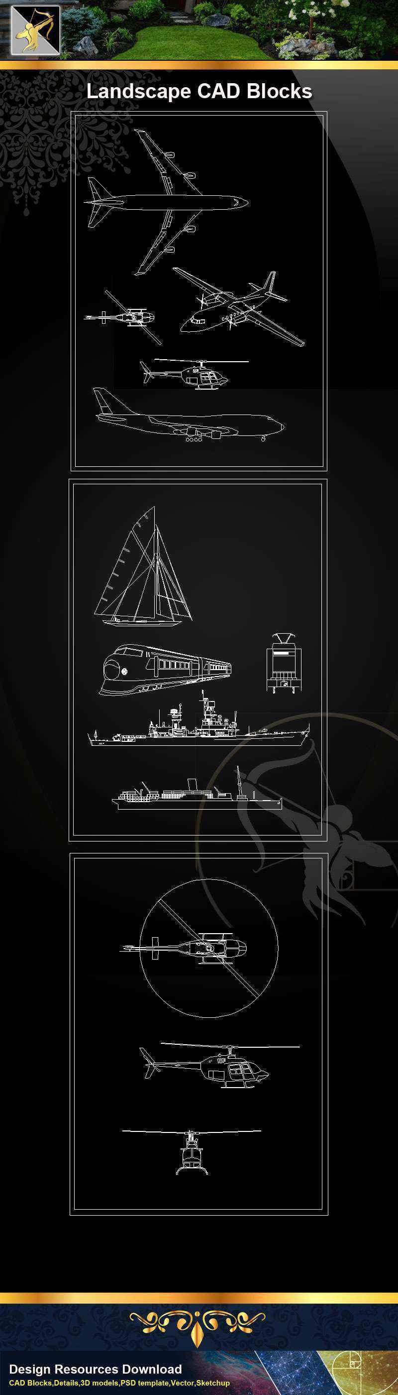 ★【Transportation Blocks】@Autocad Blocks,Drawings,CAD Details,Elevation
