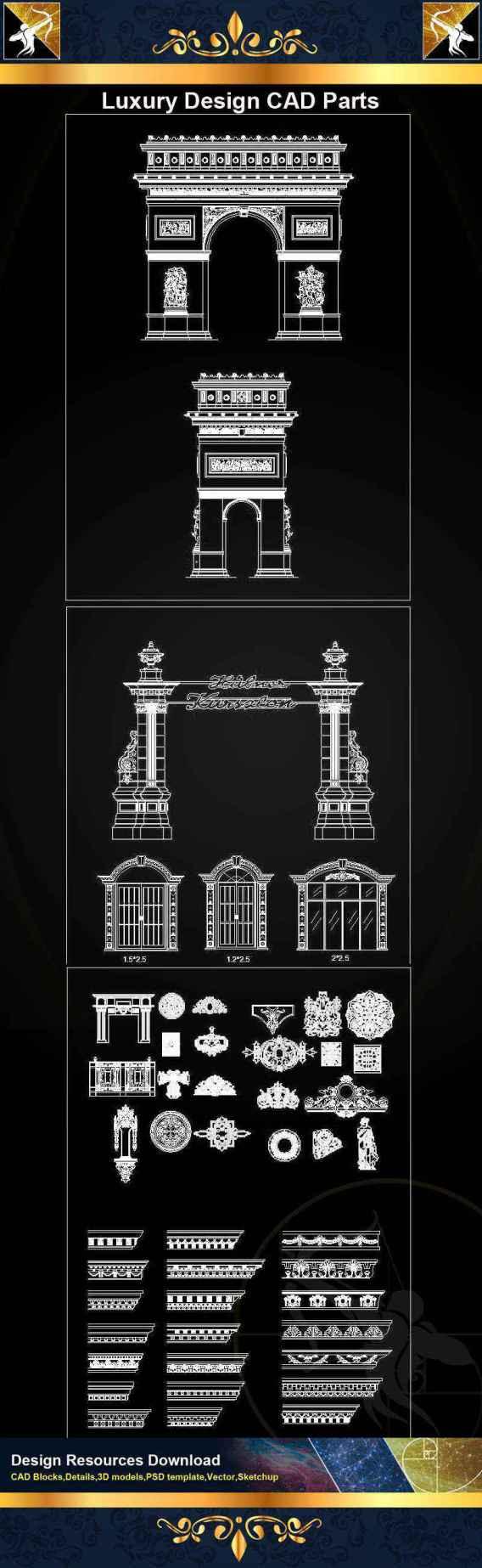 A05 Luxury Design CAD Blocks