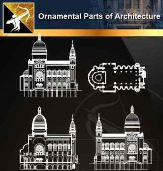★【Ornamental Parts of Architecture -Decoration Element CAD Blocks V.5】@Autocad Decoration Blocks,Drawings,CAD Details,Elevation