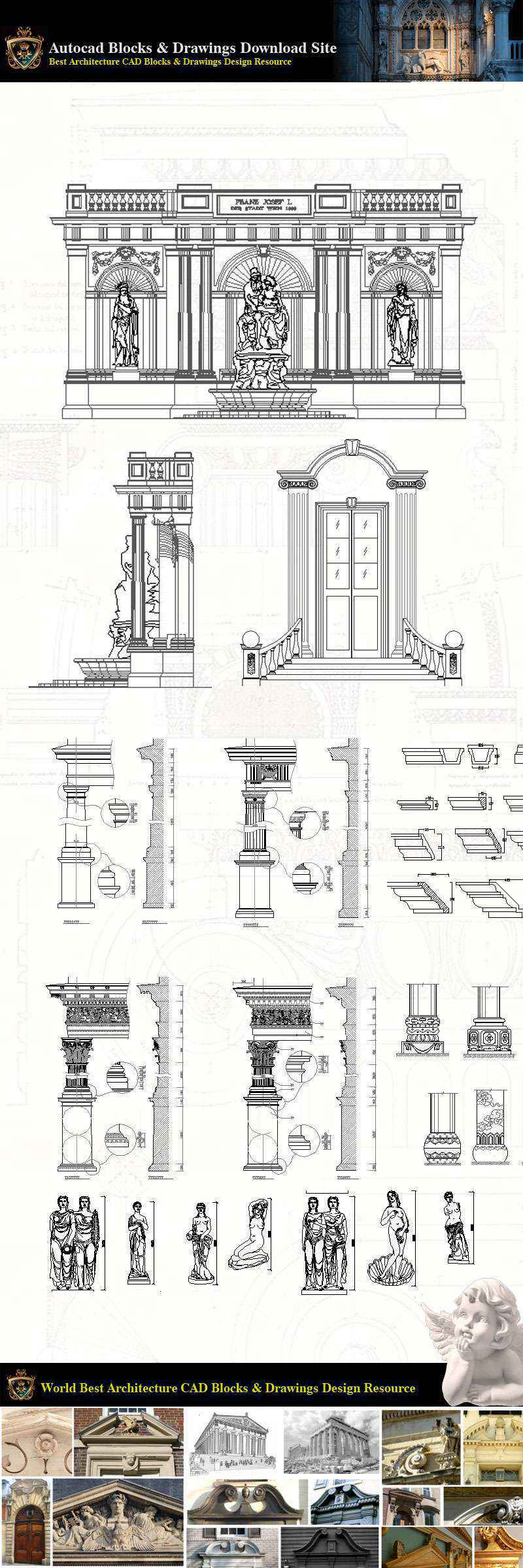 Neoclassical Style Decor Cad Design Elements V 4 Neoclassical Interior Home Decor Traditional Home Decorating Decoration Free Cad Download Site Autocad Drawings Blocks