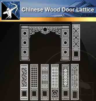 ★【 Chinese Door Lattice CAD Blocks】@Autocad Blocks,Drawings,CAD Details,Elevation