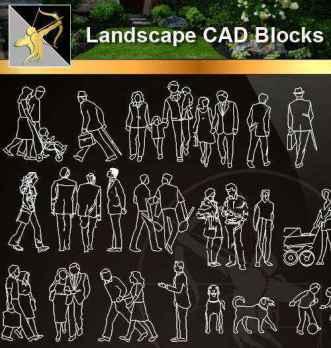 ★【 People Blocks】@Autocad Blocks,Drawings,CAD Details,Elevation